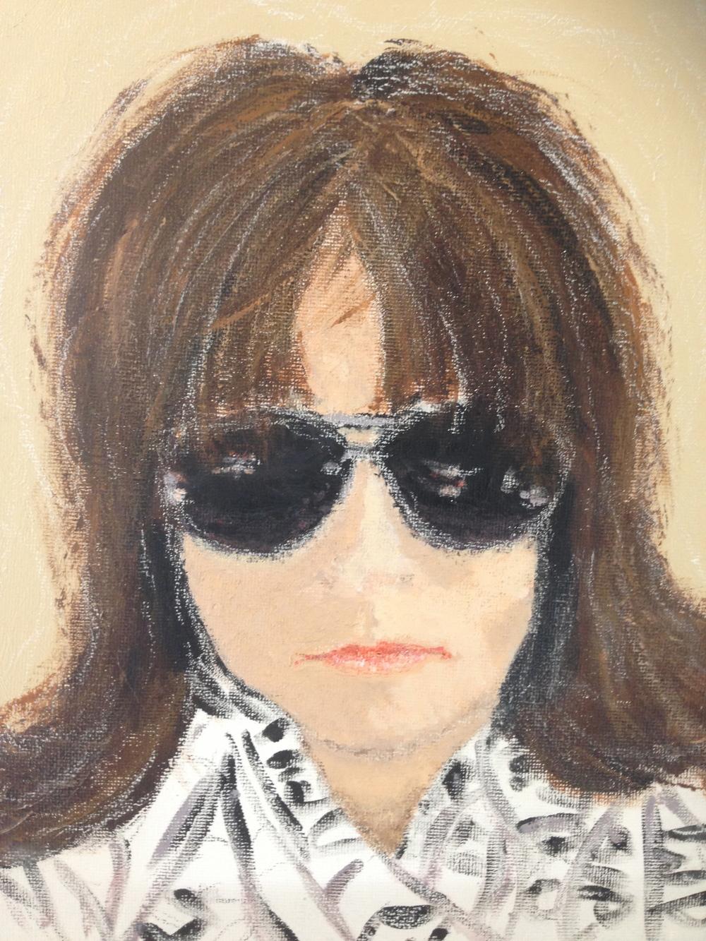 Self-Portrait: Mixed Media on Canvas, April 2014